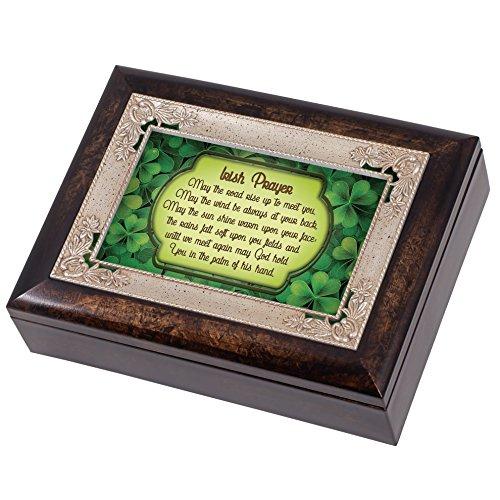 Irlandés bendición verde Shamrocks diseño italiano joyería caja de música Reproduce cuando irlandés ojos sonrisa
