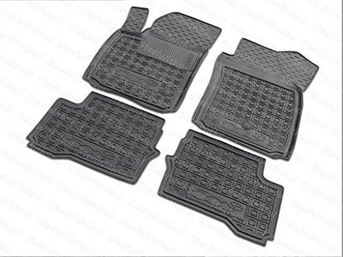 AV-G Fully Tailored Rubber | Set Car Floor Mats Carpet for Fiat 500E Electric 2013—2019