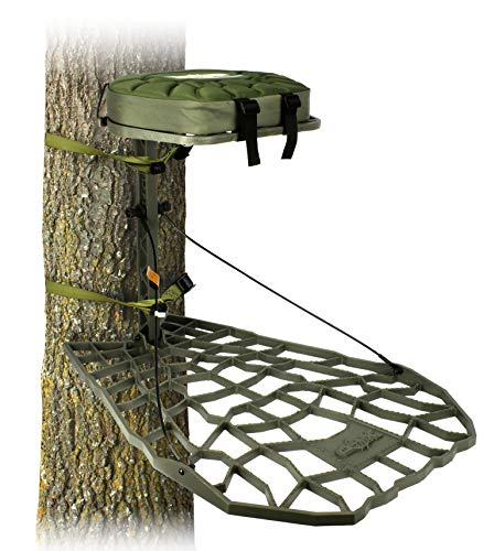 Air Raid Evolution - Cast Aluminum Hang On Tree Stand for Hunting - Deluxe Deer Stand, XOP Green, Platform Dimensions - 21.5 X 31