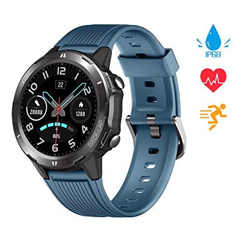 KUNGIX Smartwatch, Sportuhr Voller Touchscreen Fitnessuhr Fitness Tracker Armband 5ATM Wasserdicht Smart Watch Mit Pulsuhr Schlafmonitor Stoppuhr Für Damen Herren iOS Android Kompatibel