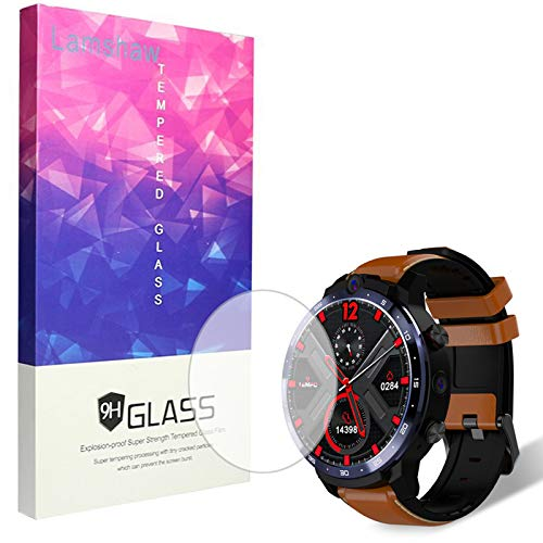 Compatible for LEMFO LEM12 Screen Protector, Blueshaw 9H Tempered Glass Screen Protector Compatible with LEMFO LEM12 2020 Smartwatch (3 pack)