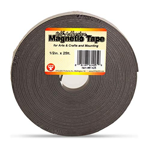 """Hygloss Products Inc. Magnetband selbstklebend 1/2\"""" x 300\"""" Breite: 12,7 mm (1/2 Zoll) Length: 300-Inch"""
