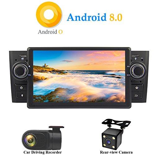 XISEDO Android 8.0 in-Dash 1 Din 7 Pouces Autoradio Voiture Radio à Écran Tactile 8-Core RAM 4G ROM 32G Car Radio Système de Navigation GPS pour Fiat Linea 2007-2012/ Fiat Grande Punto 2008