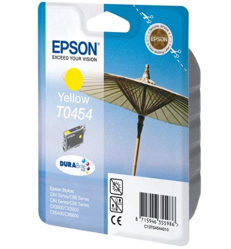 Epson T0454 Tintenpatrone Sonnenschirm, Singlepack, gelb