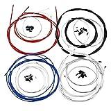MXBIN Shift Bicicleta Freno Caple Set Cables de frenado a Favor o en Bicicleta de Carretera Herramienta de reparación de Piezas de Accesorios (Color : Red)