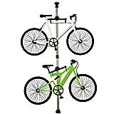 自転車スタンド ディスプレイスタンド バイクタワー 室内 2台 つっぱり式 シャンパンゴールド