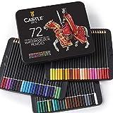Scatola da 72 matite colorate Castle Art Supplies per libri da colorare per adulti o per i...