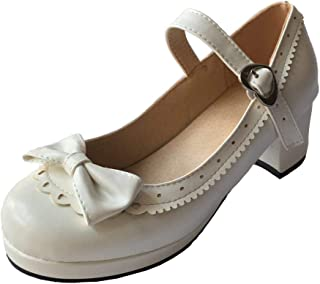 """2/"""" Long TALLINA/'S WHITE MARY JANE SHOES NRFP Old New Stock Style 002 Size 6 VTG"""