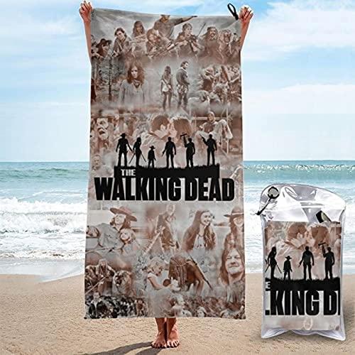QWAS Toallas de playa de The Walking Dead, toallas de baño Rick Grimes, toallas de dibujos animados, toallas de viaje ultrafinas y suaves, tamaño perfecto (A04,100 x 200 cm)