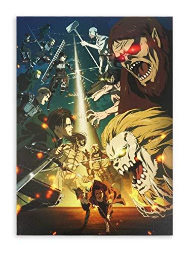 CoolChange Attack on Titan - Quadro da parete su pannello in schiuma rigida | Staffel 4 poster 30 x 42 cm | Motivo: Battaglia contro Marley