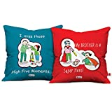 Indigifts Combo Set of Superman Bro and Blue Bhai Behen High 5 Moment