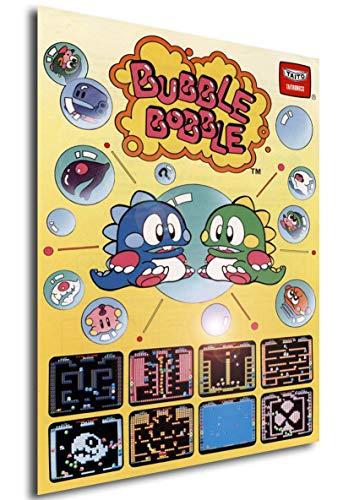 Poster Retrogame - Bubble Bobble Cover - Formato (42x30 cm)