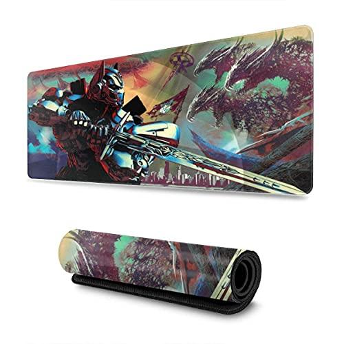 Alfombrilla de ratón Grande de Gran tamaño electrónico de Goma Antideslizante 11,8 x 31,5 Pulgadas Fine Art Painting Optimus Prime