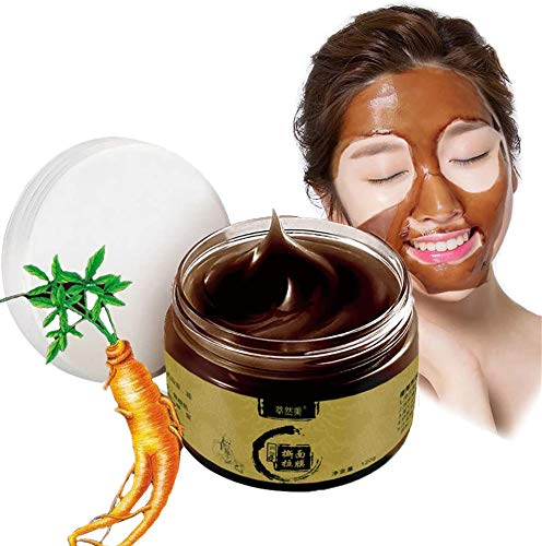 04zaiyici01 Herbal Beauty Refining Peel-Off Mask,Ginseng Mask Transitional Herbal Ginseng Black Head Peel Off Mask Cleaning Mask