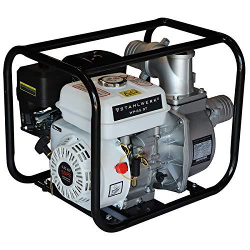 STAHLWERK Wasserpumpe WP-65 ST, Benzin-Motorpumpe, B-Anschluss geeignet, leistungsstarker Motor, verbrauchseffizient und wartungsarm, 7 Jahre Garantie