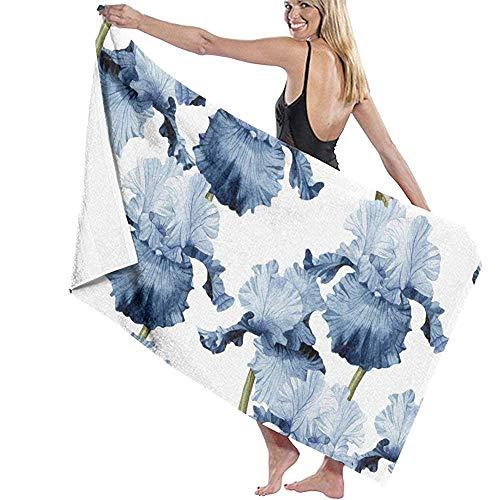 EXking Iris in aquarel microvezel badhanddoek bad surf zwemmen super zachte super absorberende handdoek