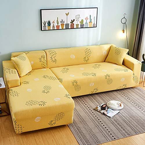 YaoJP Bankovertrek, elastisch, volledig afgedekt, decoratie voor bank, hoekbank, met kussenslopen, wasbaar in de wasmachine, stofbescherming