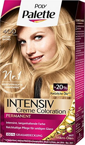 Poly Palette Intensiv Creme Coloration, 400 Naturblond Stufe 3, 3er Pack (3 x 115 ml)