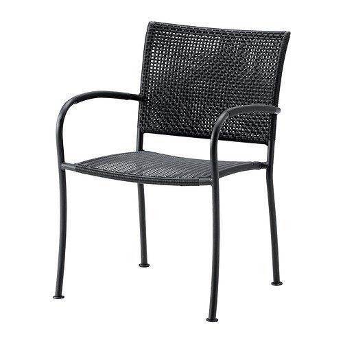 IKEA LACKO -Stuhl mit Armlehnen grau