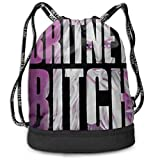 Hengtaichang Britney Spears Britney Bitch Multifunctional Beam Drawstring Backpack Unisex Suitable for Outdoor Travel L