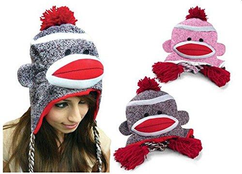 Sock Monkey Knitted Hat