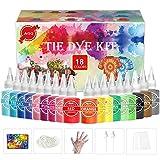 Pastel Tie Dye Kit for Kids & Adults - AGQ 18 Colors Rainbow DIY Fabric Dye, Water Based One Step Tye Dye Kits Set for Girls Boys Birthday Party T-Shirt, Sweatshirt, Textile, Dress, Socks, Hoodie