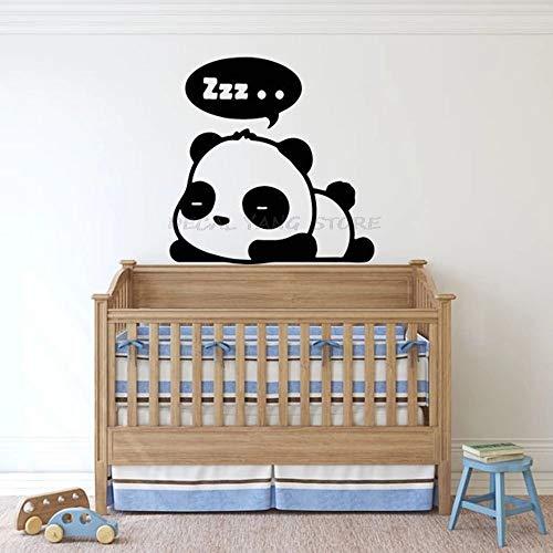 WERWN Panda Etiqueta de la Pared Etiqueta engomada del Vinilo de Animales Pegatinas habitación de los niños