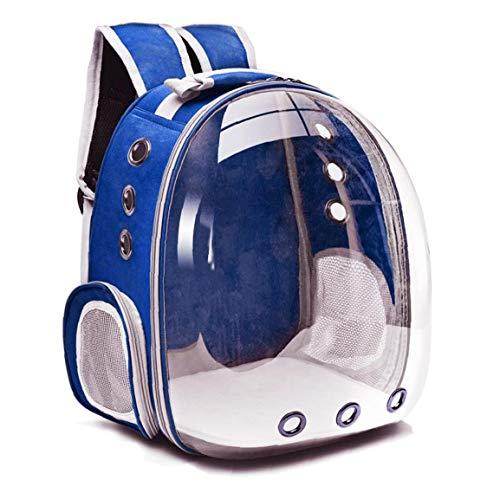 Hiinice Cat Mochila Burbuja Bolsa del, Hombro Doble Perro pequeño portátil Mochila Porta, Portador del Perro Cápsula Espacial Mascotas Mochila de Senderismo, Azul