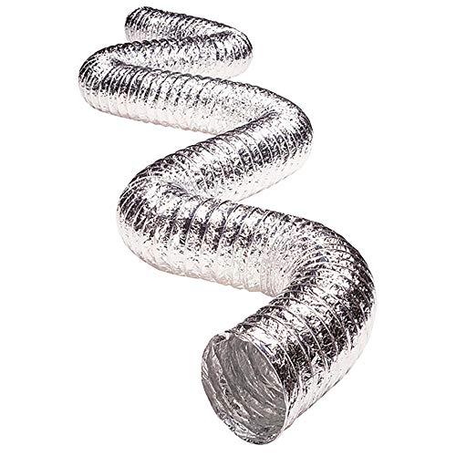 Deflecto Non Insulated Metallic Duct, Flexible, 3' x 25', Silver