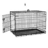 Defacto Jaula para perros de 2 puertas, plegable, caja de malla, transporte, jaula de alambre, S-XXL DF-HB005 (S)