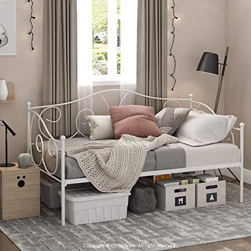 Furinno Angeland Carca Metal Daybed, Twin, White