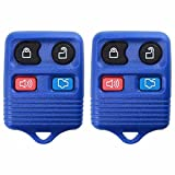 2 KeylessOption Blue Replacement 4 Button Keyless Entry Remote Control Key Fob