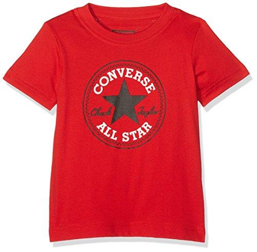Converse Baby-Jungen Chuck Patch Tee Trainingsanzug, rot, 8-10 Jahre
