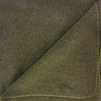 EverOne Olive Drab Couverture ignifuge 80 % laine 167,6 x 228,6 cm