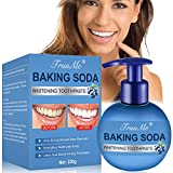 Teeth Whitening Toothpaste, Baking Soda Toothpaste, Stain Removal Toothpaste, With Strong Cleaning Power, Anti Bleeding Gum, Prevent Tooth Decay, Natural Stain Removal Repairing Refreshing