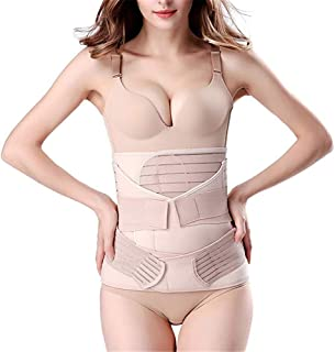 3 in 1 Postpartum Girdle Support Recovery Belly Band Corset Wrap Body Shaper for After Birth Postnatal C-Section Waist Pel...
