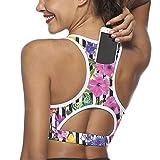 Sujetador deportivo para mujer con bolsillo trasero, almohadilla para el...