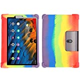 SsHhUu Funda para Lenovo Yoga Tab 5 YT-X705F 10.1' 2019 Tablet, Funda de Silicona Protectora a Prueba de Golpes para niños para Lenovo Yoga Smart Tab 10.1 Pulgadas, Rainbow