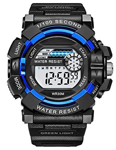 Reloj Digital para Hombre Relojes Deportivos Militares Cronógrafo Impermeable para Exteriores Pulsera Militares con Cara Grande para Hombres Adolescente Niño con Retroiluminación LED/Alarma