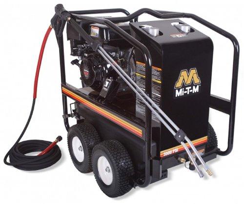 Mi-T-M HSP-3504-3MGH HSP Series Hot Water Gasoline Direct Drive, 389cc Honda OHV Engine, 3500 PSI Pressure Washer