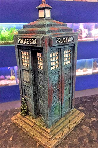 Mezzaluna Gifts Dr Who Tardis Police Box Aquarium Fish Tank Ornament (LARGE 26CM)