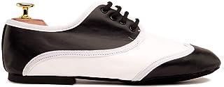 Zapatos de Baile Latino Hombre Jazz Oxford Black & White- Bailar Bachata y Salsa - Zapatos de Jazz