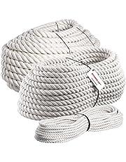 Seilwerk STANKE 5m Katoenen touw 10mm hangemaakt natuurlijk touw