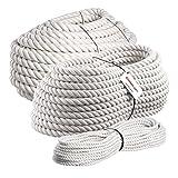 Seilwerk STANKE 50 m Corda di Cotone 30 mm Fibre Naturali Attorcigliata Manualmente Sartiame