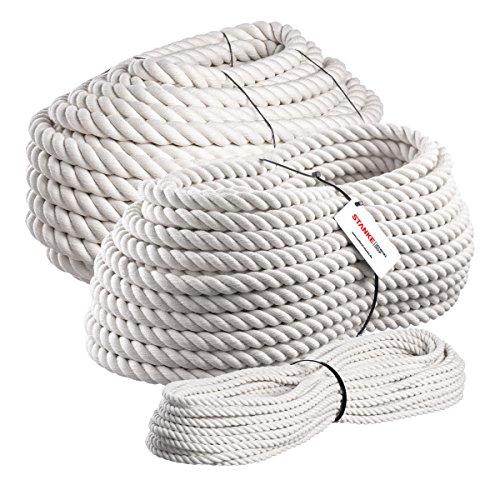 Seilwerk STANKE Baumwollschnur 10mm, Baumwollkordel Baumwollseil für Vorhänge, handgedreht, 5m