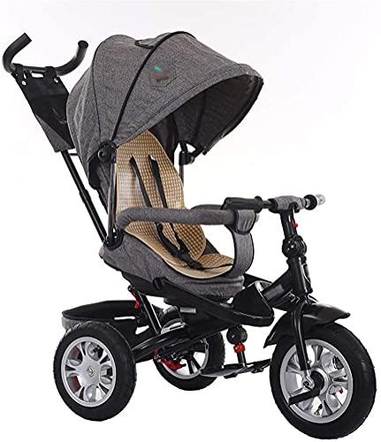Cochecito de bebé cochecito cochecito cochecito cochecito cochecito 3 en 1 cochecito de bebé triciclo bicicleta pliegue rápido para niños con arnés de embrague y arnés de seguridad carrito de niños po