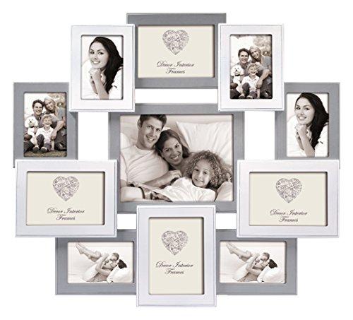 Zep Rouen Bilderrahmen aus Holz Grau Weiß für 11 Fotos Foto Collage Rahmen Galerie