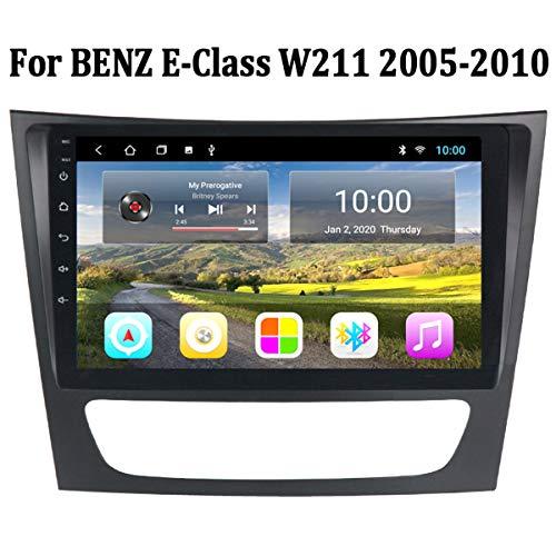 MonLG Auto GPS, 9-Zoll-Android 9-Autoradio-Multimedia-Player, integrierte Offline-Karte für Mercedes Benz E-Klasse W211 2005-2010, Unterstützung des originalen Lenkradknopfs,4g+WiFi 2g+32g