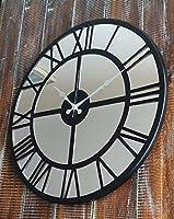 Markakanvas Aynalı Metal Duvar Saati Siyah MKS983AYNASi