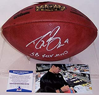 Drew Brees Autographed Hand Signed Super Bowl XLIV 44 Official Wilson NFL Leather Football - with Super Bowl XLIV MVP inscription - BAS Beckett
